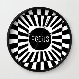 Black and White Focus (Customizable Label) Wall Clock
