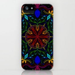 Carnival of Twisted Rainbows iPhone Case