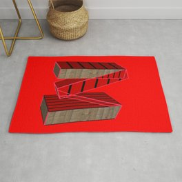 Letter M / Lettering Fancy Art Rug