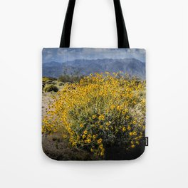 Wild Desert Flowers Blooming in the Anza-Borrego Desert State Park, Southern California Tote Bag