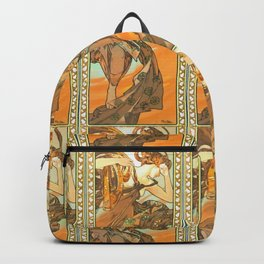 "Alphonse Mucha ""The Moon and the Stars Series: The Evening Star"" Backpack"