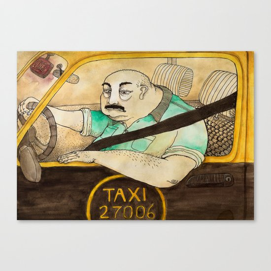 Taxi de Buenos Aires Canvas Print