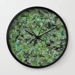 Raw Peridot Wall Clock