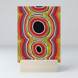 Authentic Aboriginal Art - Seed Pod Mini Art Print