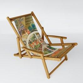 Peace Sign - Love - Graffiti Sling Chair