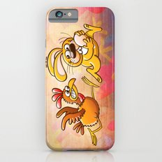 Easter Bunny Stealing an Egg from a Furious Hen iPhone 6s Slim Case