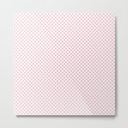 Rose Shadow Polka Dots Metal Print