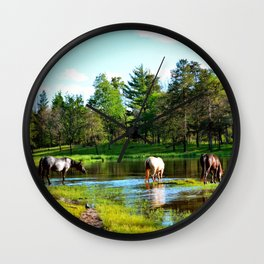 The watering hole Wall Clock