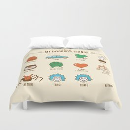 A Few Of My Favourite Things Duvet Cover