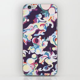 Dark Purple Abstract Tapestry iPhone Skin