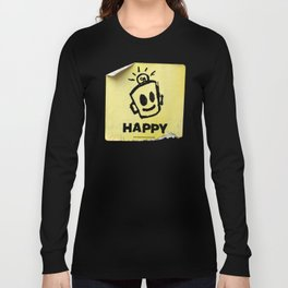 The Happy Sticker Long Sleeve T-shirt
