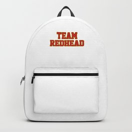 Team Redhead Red Hair Ginger Redheads Freckles Gift Backpack