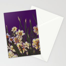 Yellow daffodils field illustration  Stationery Cards