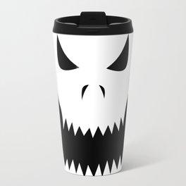 Scary Jack O'Lantern Face Travel Mug