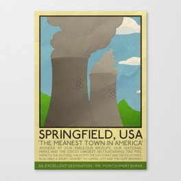 Silver Screen Tourism: SPRINGFIELD, USA / THE SIMPSONS Canvas Print