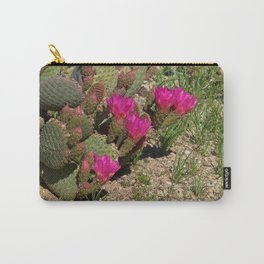 Beavertail Cactus in Bloom Carry-All Pouch