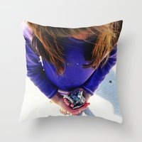 shells Throw Pillows featuring Shells by Stephanie Stonato