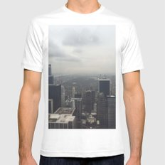 Central Park in the Fog White MEDIUM Mens Fitted Tee