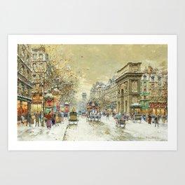 Porte St. Martin, Paris by Antoine Blanchard Art Print