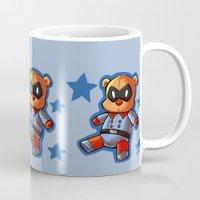 bucky Mugs featuring bucky!bear by zombietonbo