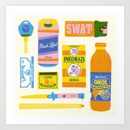 Survial Kit Art Print