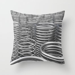 Pile of metal springs and coils Throw Pillow