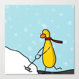 Snow Shoveling | Veronica Nagorny Canvas Print