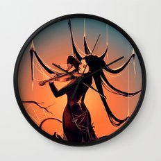 FiddleBack Wall Clock