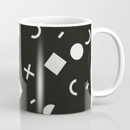 Black & White Memphis Pattern Coffee Mug