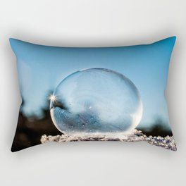 Frozen Bubble in the Winter's Air Rectangular Pillow