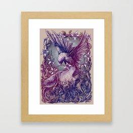 Romance Wolf Framed Art Print
