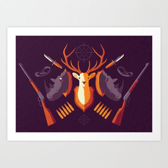 Hunter Memory Art Print