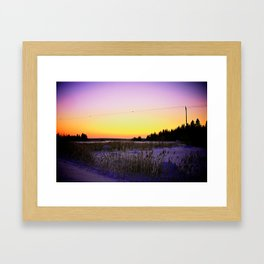 FROZEN AWAKENING Framed Art Print