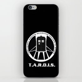 Agents of TARDIS black and white Agents of Shield, Doctor Who mash up iPhone Skin