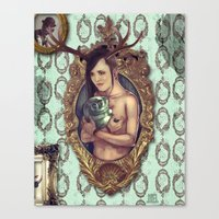 cuddle Canvas Prints featuring Cuddle by Joel Amat Güell