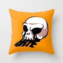 skull old school tattoo  Throw Pillow