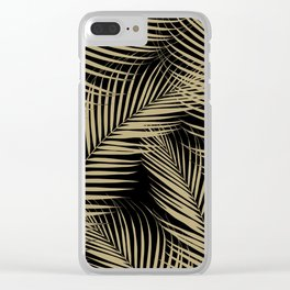 Palm Leaves - Gold Cali Vibes #2 #tropical #decor #art #society6 Clear iPhone Case