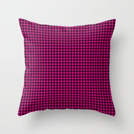 Mini Black and Hot Pink Cowgirl Buffalo Check Throw Pillow
