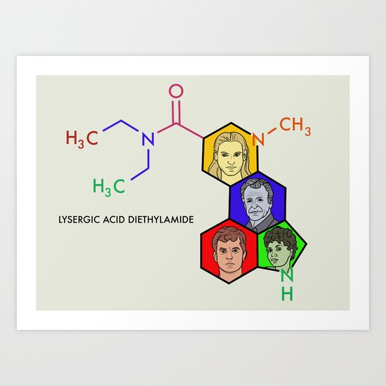 Lysergic Acid Diethylamide Art Print