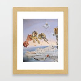 """Ghost with Tigers"" / Salvador Dali Framed Art Print"