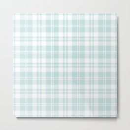 Cozy Plaid in Mint Metal Print