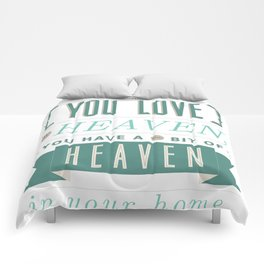Someone In Heaven-BLUE Comforters