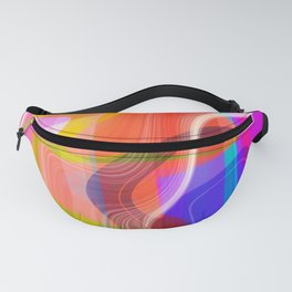 Digital Abstract #2 Fanny Pack