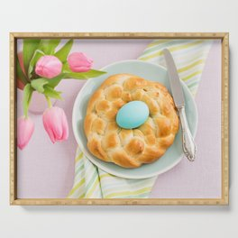 Easter breakfast table Serving Tray