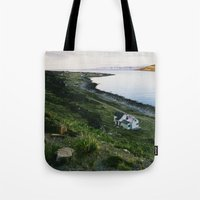 scandinavian Tote Bags featuring Scandinavian House by A. Serdyuk