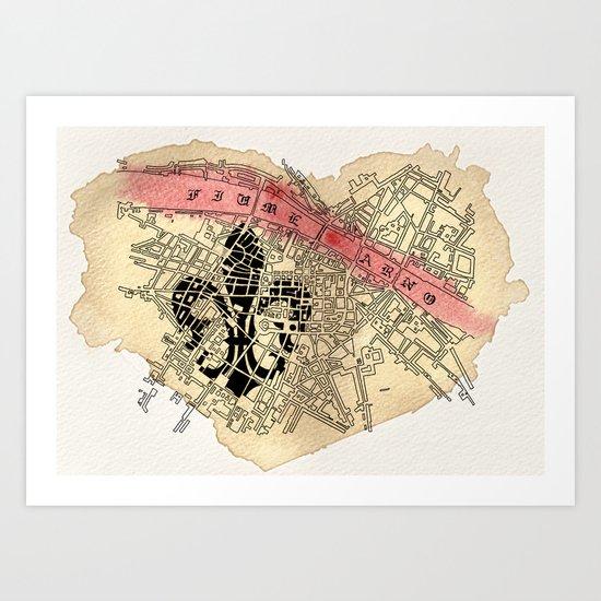 Fiume Arno Art Print