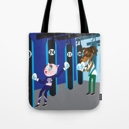 Boxing fashionista cats Tote Bag