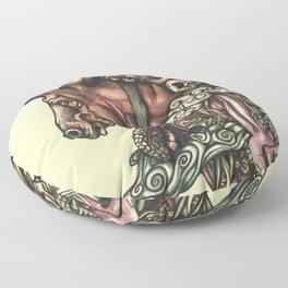 Horse Doodle Flat Floor Pillow