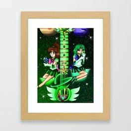 Fusion Sailor Moon Guitar #33 - Sailor Jupiter & Sailor Neptune Framed Art Print