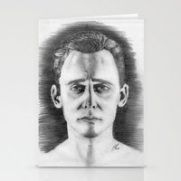 tom hiddleston Stationery Cards featuring Tom Hiddleston by LilKure